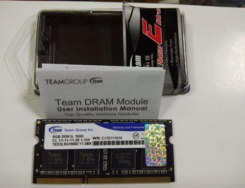 Team Elite So-Dimm DDR3L PC12800 8GB Original