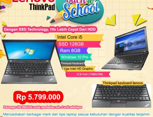 Lenovo Thinkpad Core i5, Ram 8GB, SSD Technology