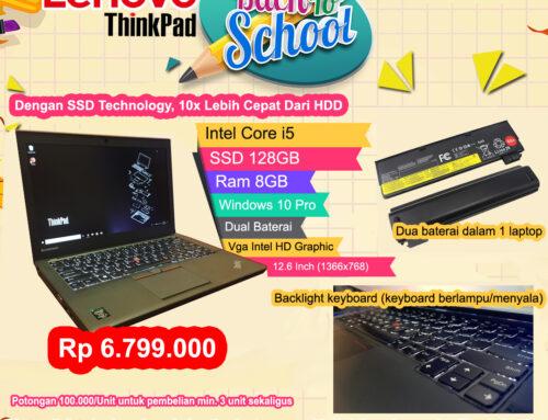 Lenovo Thinkpad Core i5 Dual Baterai & SSD Technology