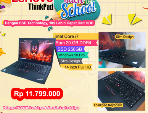 Lenovo Thinkpad Core i7 Gen 7th RAM 20GB – SSD 256GB
